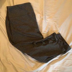 Dark grey capris with tied bottom— Lane Bryant